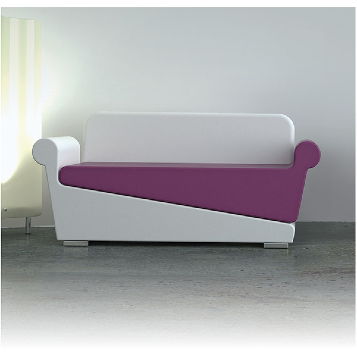 Contemporary Sofa For Reception Areas Vinyl Beauty Salons Stand By