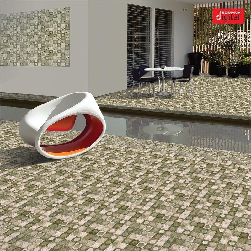 Outdoor Tile For Floors Ceramic Geometric Pattern Gardena