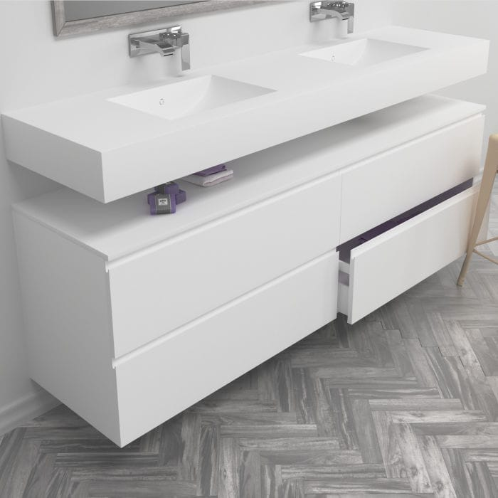 Bathroom Base Cabinet / Wall Mounted   2X2 DRAWERS