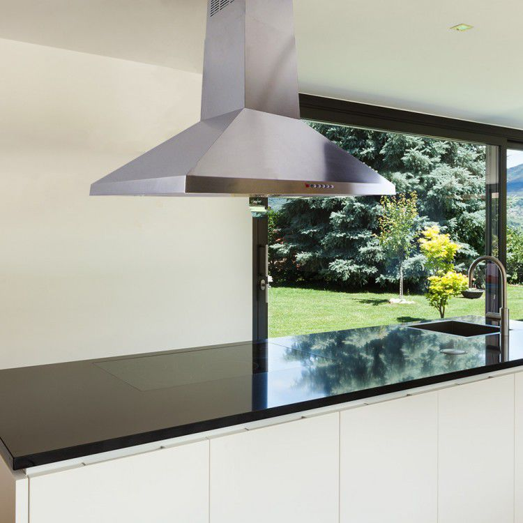 island range hood with builtin lighting la70stdisl