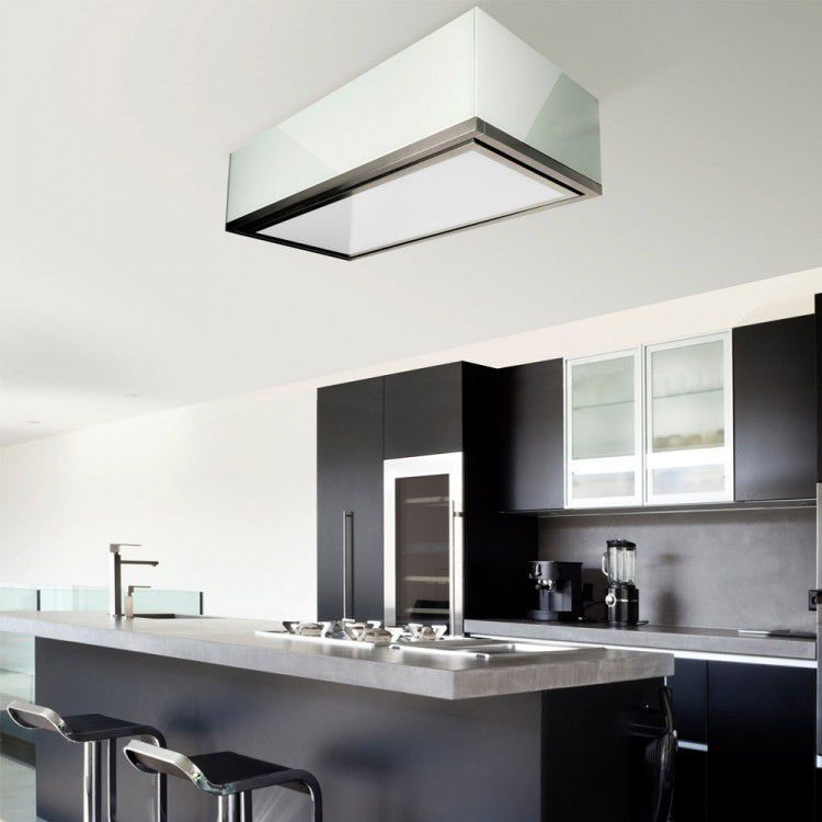 island range hood with builtin lighting original design la120lumen