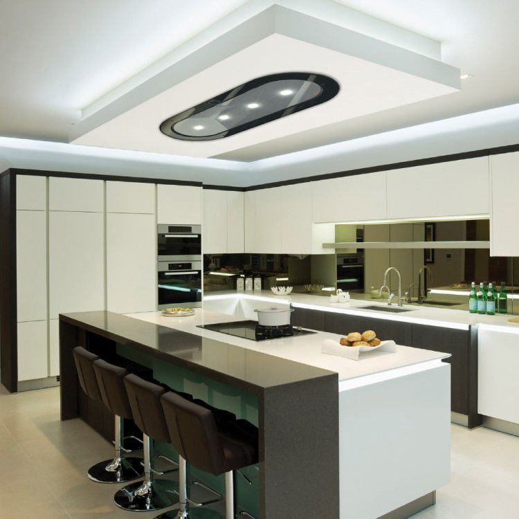 Ceiling Mounted Range Hood / With Built In Lighting   LA 1200 JUPITER