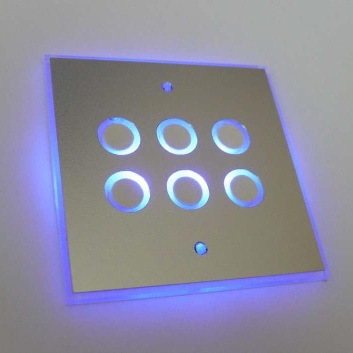 Light dimmer switch / push-button / multi-person / metal - Futuro ...