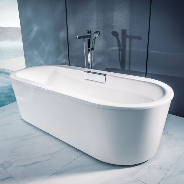 Freestanding bathtub / oval / acrylic / double - VOLUTE: C6D064 ...