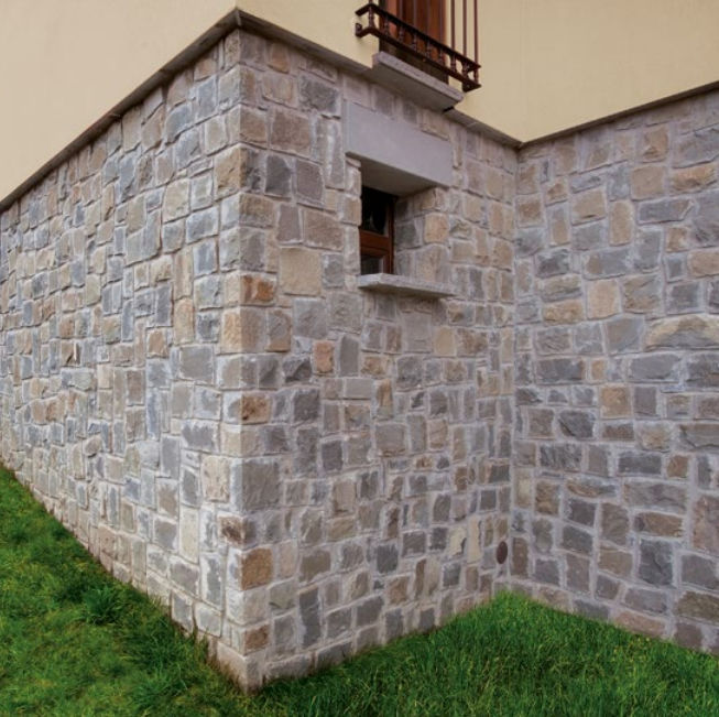 Indoor Stone Wall natural stone wall cladding / outdoor / indoor / 3d - cover grey