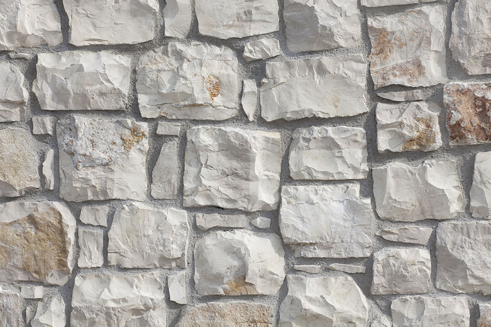 Indoor Stone Wall natural stone wall cladding / outdoor / indoor / 3d - cover white