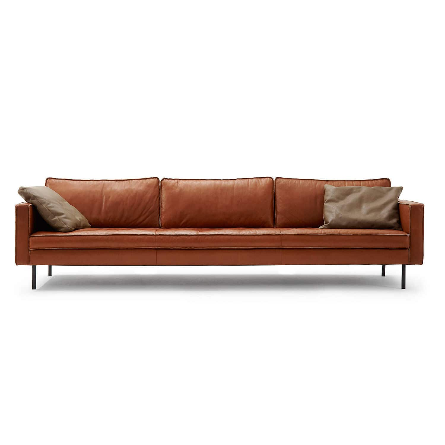 Modular sofa contemporary leather 3 seater BUSTER TM