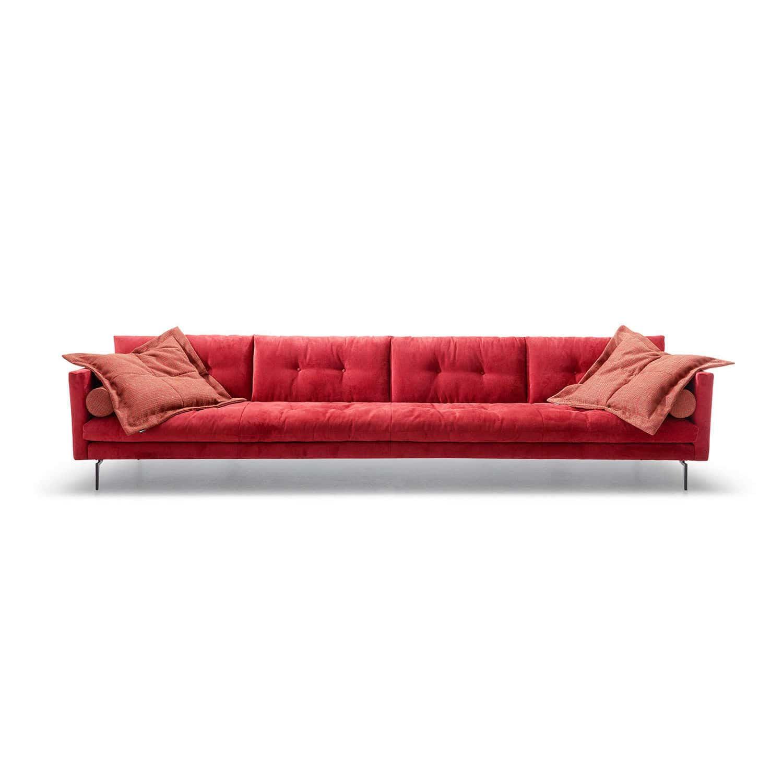 Contemporary sofa / fabric / 4-seater / red - CONTESSA - TM ...