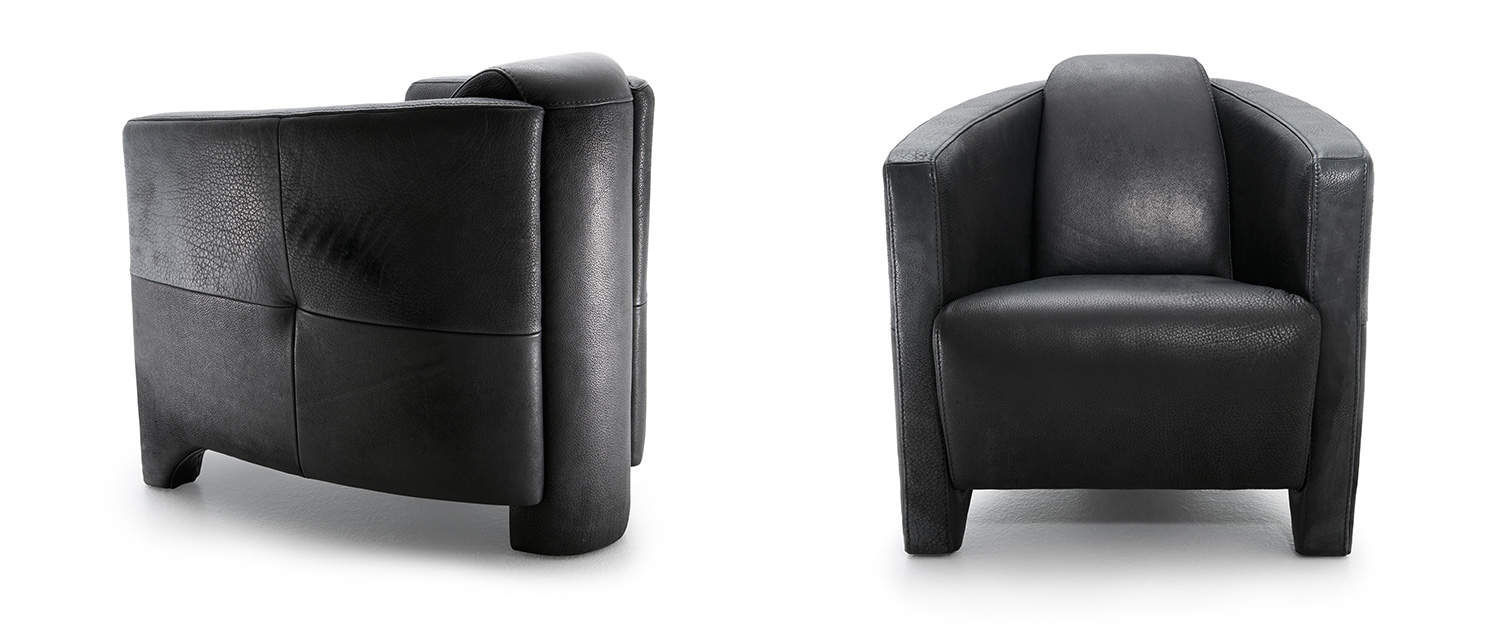 KG; Contemporary Armchair / Leather / Wooden / Black DYLAN TM Collections  GmbH U0026 Co.