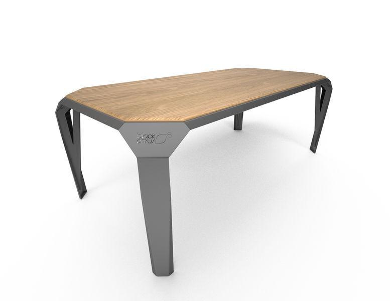 contemporary dining table / wooden / plexiglas® / corian® - zest