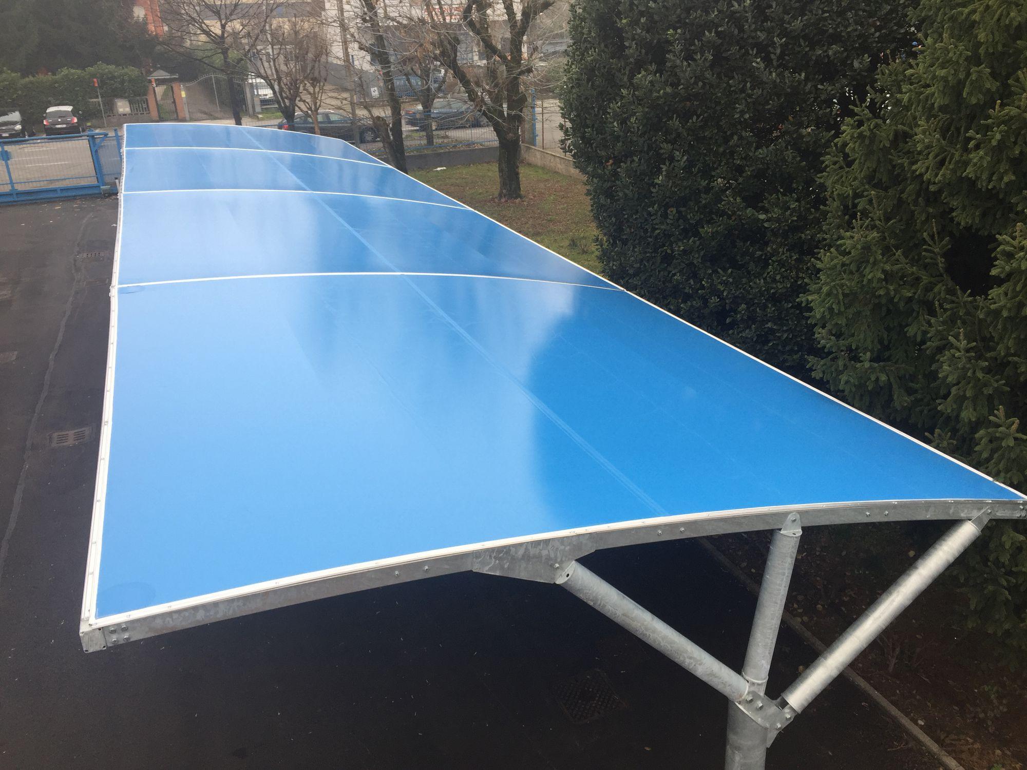 Steel carport polycarbonate pvc commercial mx metexa sas