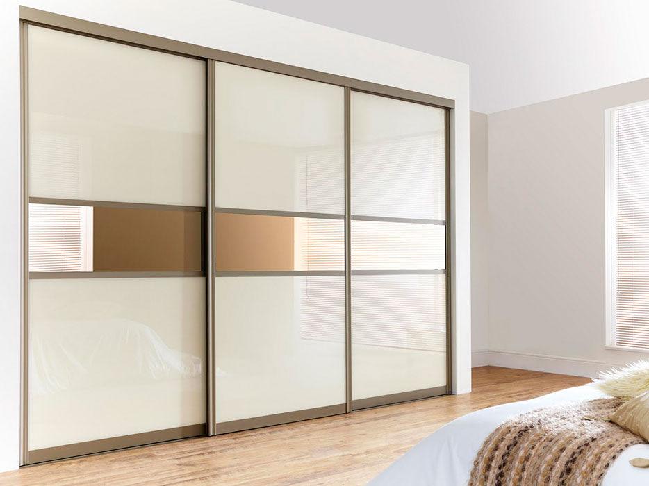 Two Way Door closet door / two-way / solid wood / semi-glazed - modern - ville