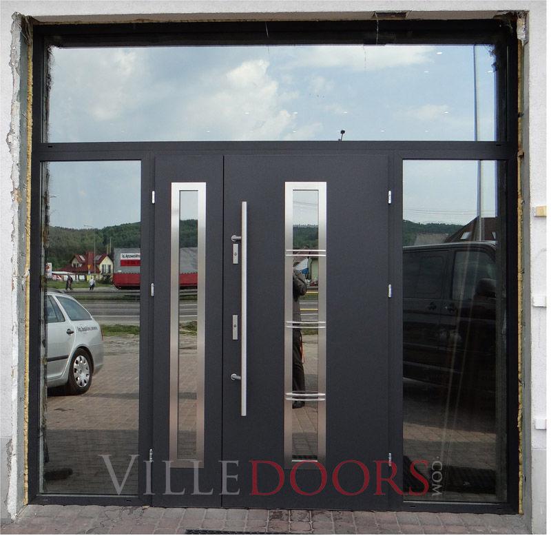 Entry Door Swing Stainless Steel Security Madrid Ville Doors