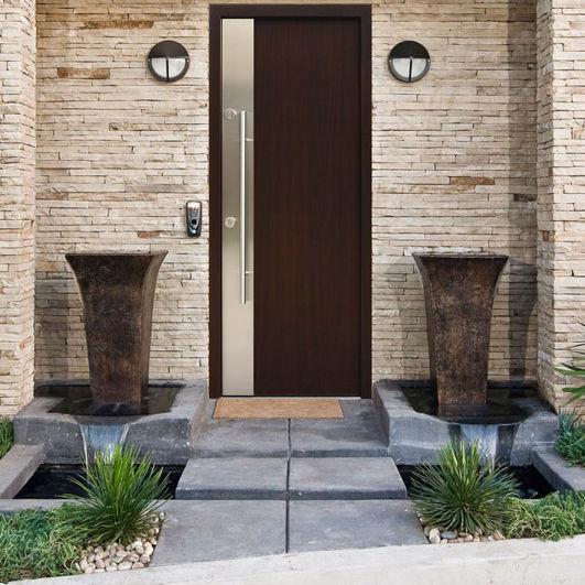 entry door / swing / stainless steel / security ... & Entry door / swing / stainless steel / security - MILANO - Ville Doors