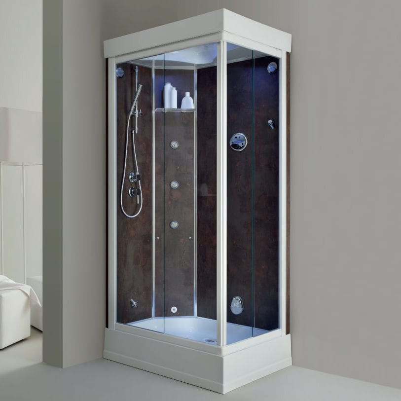 Glass shower cubicle / corner / with sliding door - NEW SPRING.H ...