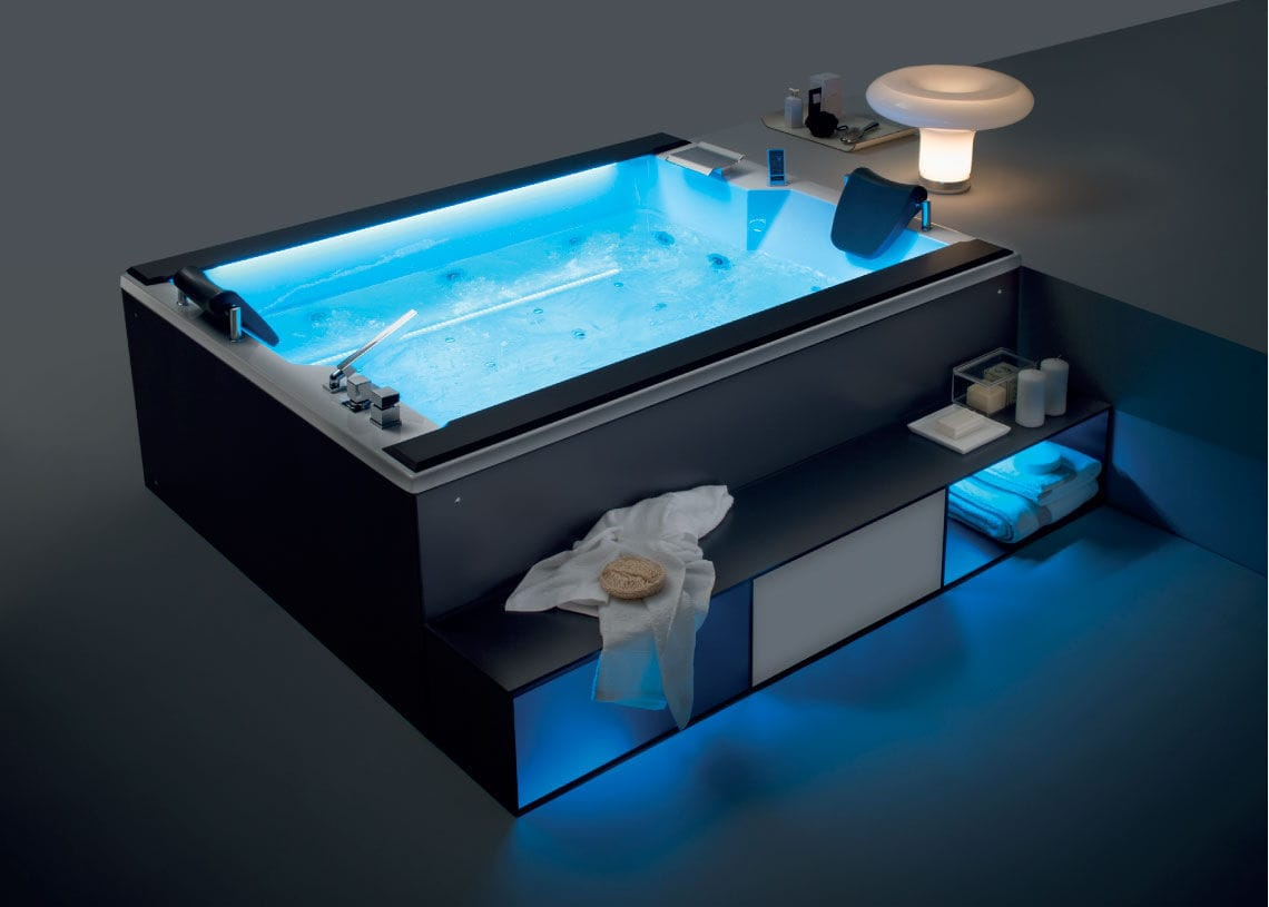 Above-ground hot tub / rectangular / 4-seater / 8-seater - DUE.CENTO ...