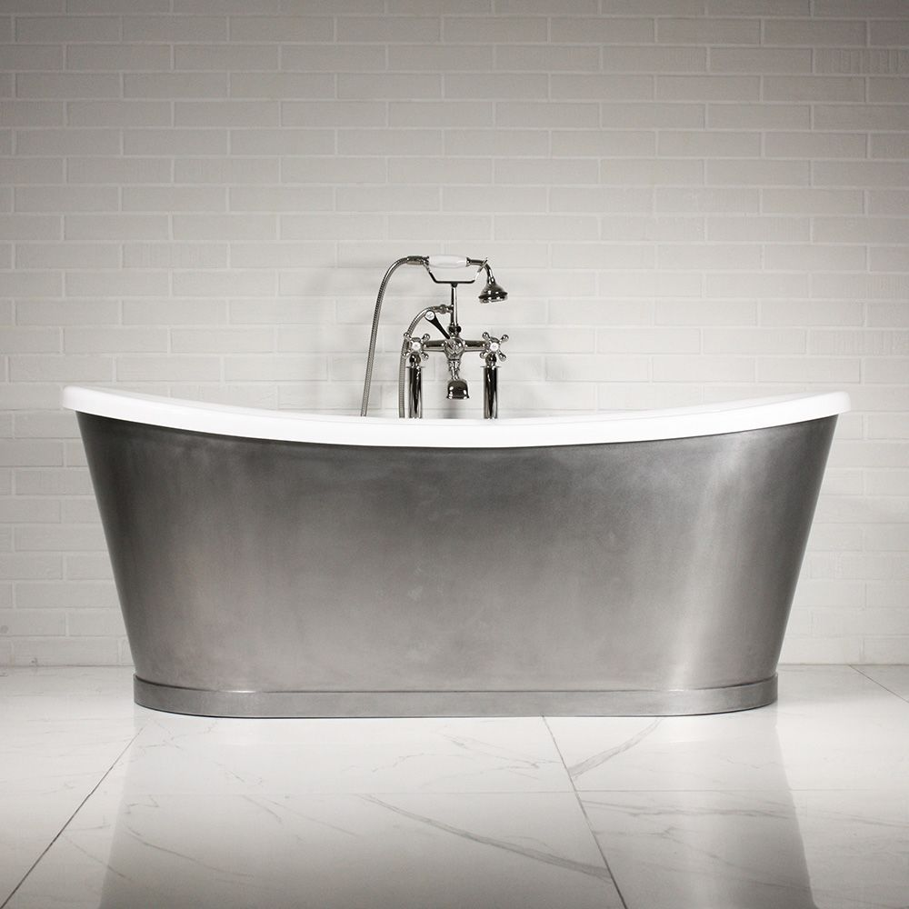 Freestanding bathtub / oval / acrylic / stainless steel - \'THE ...
