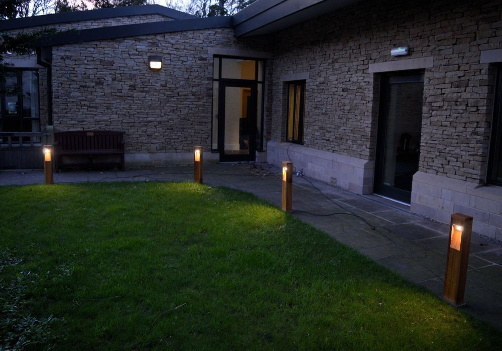 Public E Bollard Light Garden Contemporary Wooden