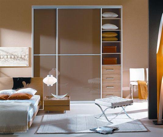 Closet Door / Swing / Wood Veneer / Glazed   MODERN