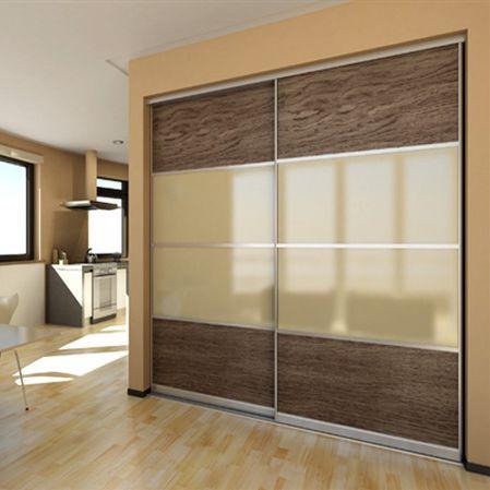 Closet Door / Swing / Wood Veneer / Glazed ...