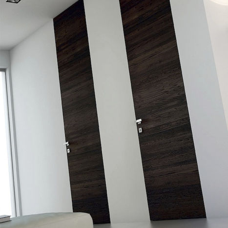 Indoor Door Swing Wood Veneer Laminate Italian Floor To