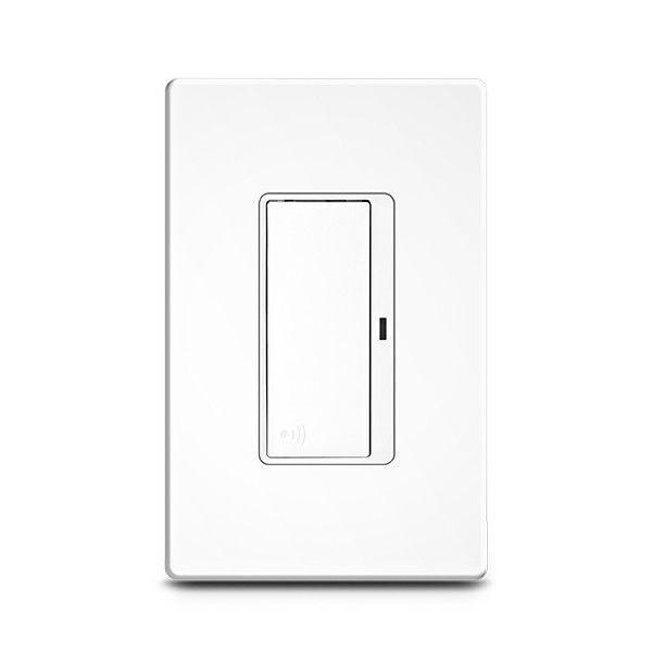 Light switch / push-button / polycarbonate / aluminum - Z-WAVE ...