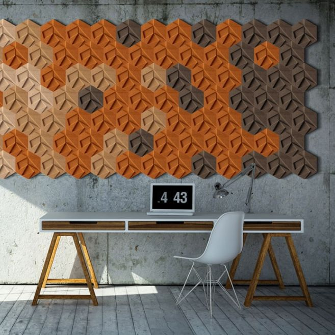 Natural Cork Wallcovering Home 3d Tile Organic Blocks