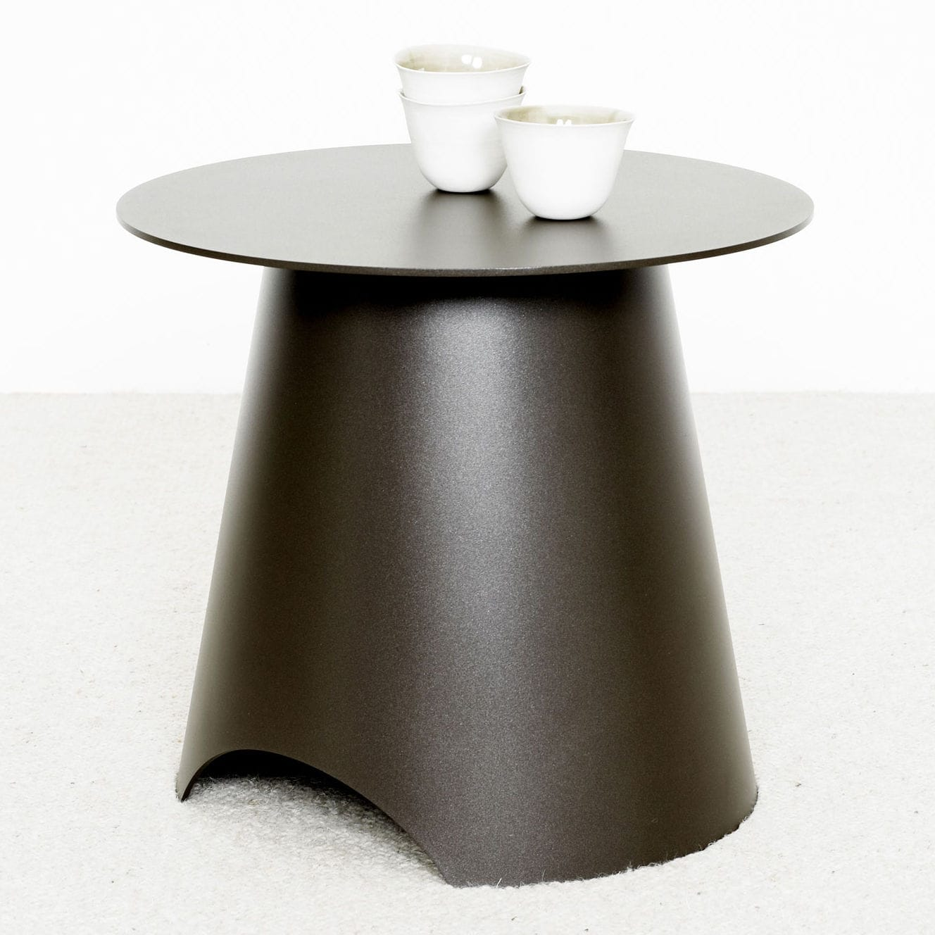 contemporary side table  metal  round  max  christophe delcourt - contemporary side table  metal  round  max