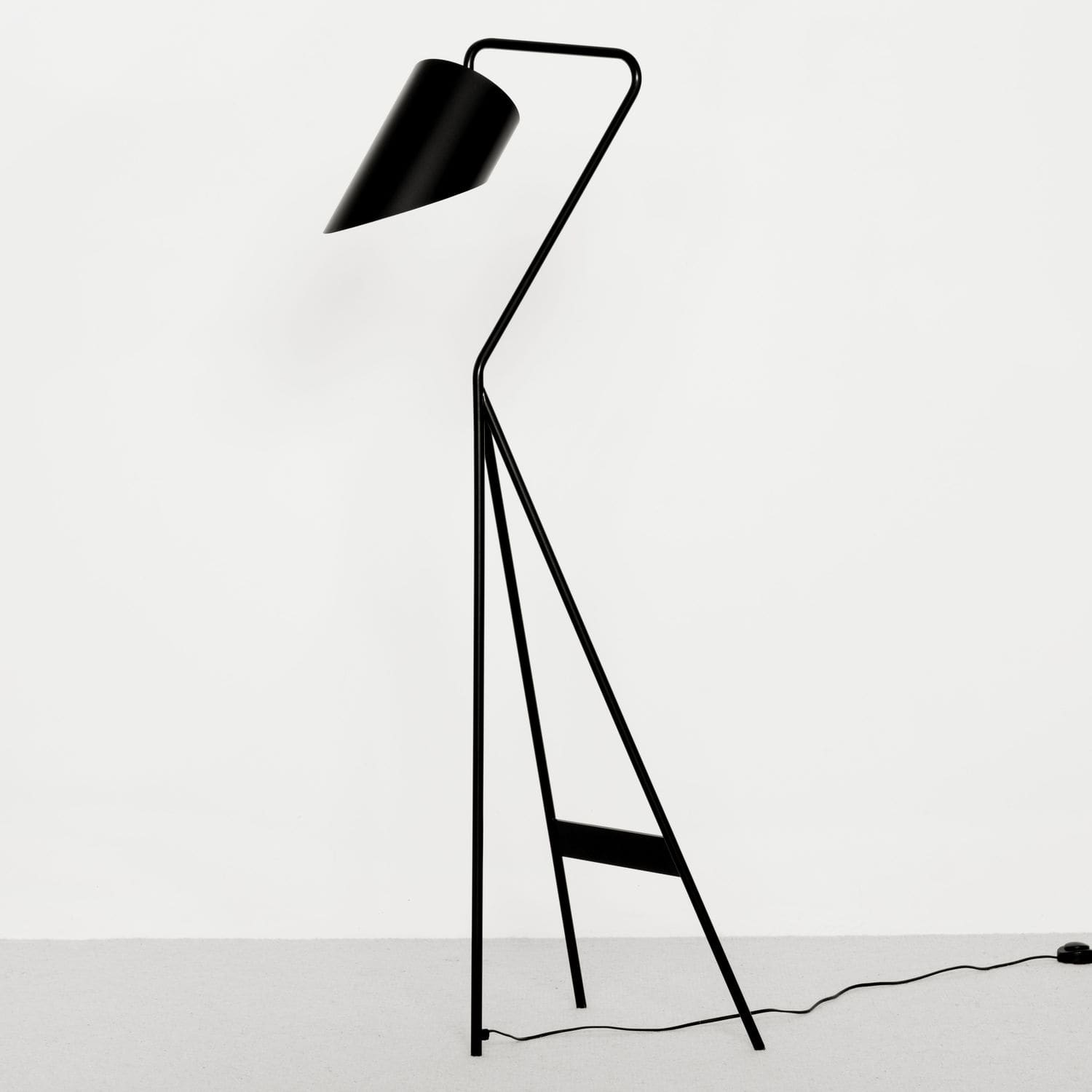 Floor-standing lamp / contemporary / metal / tripod - SWN ...