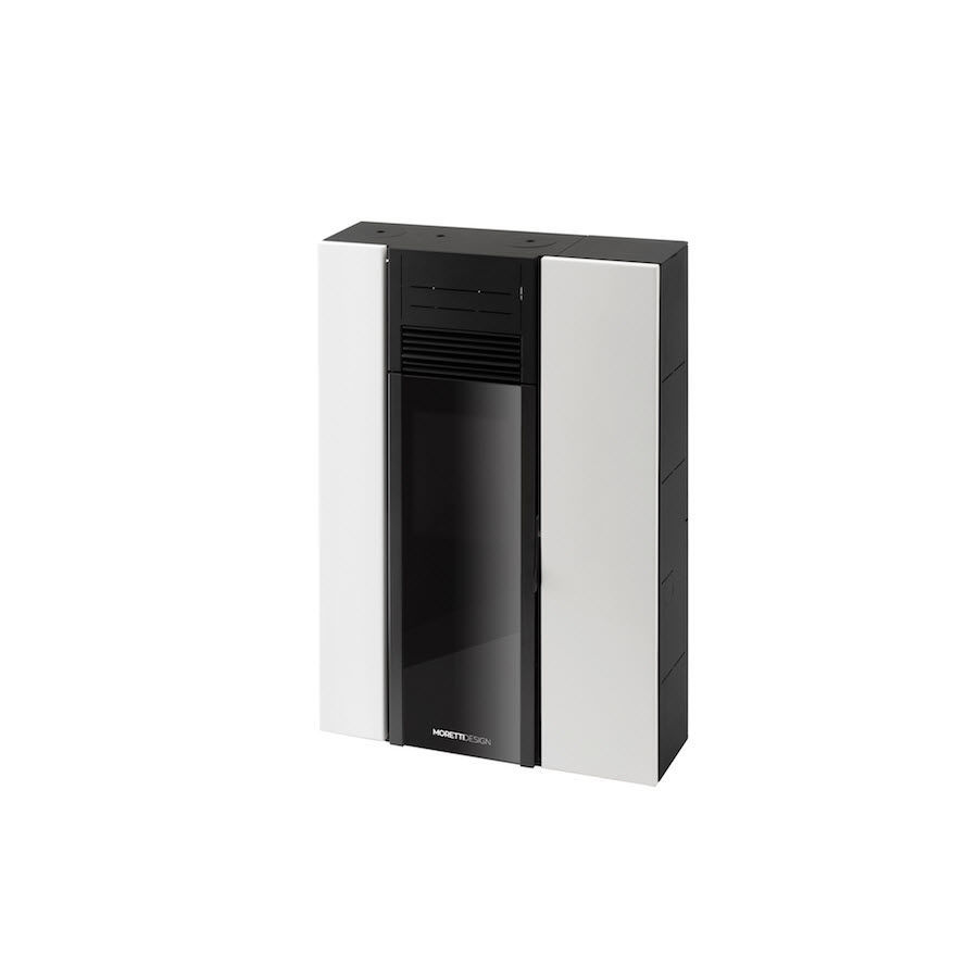 Pellet heating stove / contemporary / metal - A8 COMPACT - Moretti ...