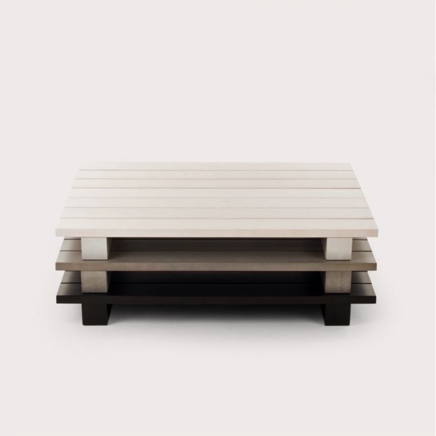 Beech Coffee Table Contemporary Coffee Table Beech Rectangular Pallet By Jonah