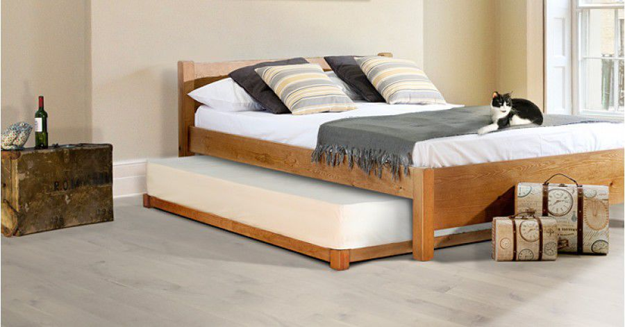 Pull Out Bed Double Contemporary Wooden Guest Get Laid Beds