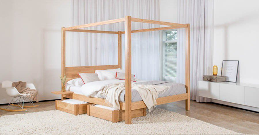 Canopy bed / double / contemporary / with storage FOUR POSTER CLASSIC Get Laid Beds ... & Canopy bed / double / contemporary / with storage - FOUR POSTER ...