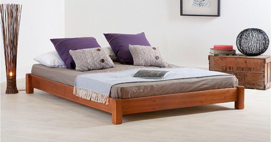 Ordinaire Double Bed / Minimalist Design / Wooden / 200x200 Cm   LOW PLATFORM