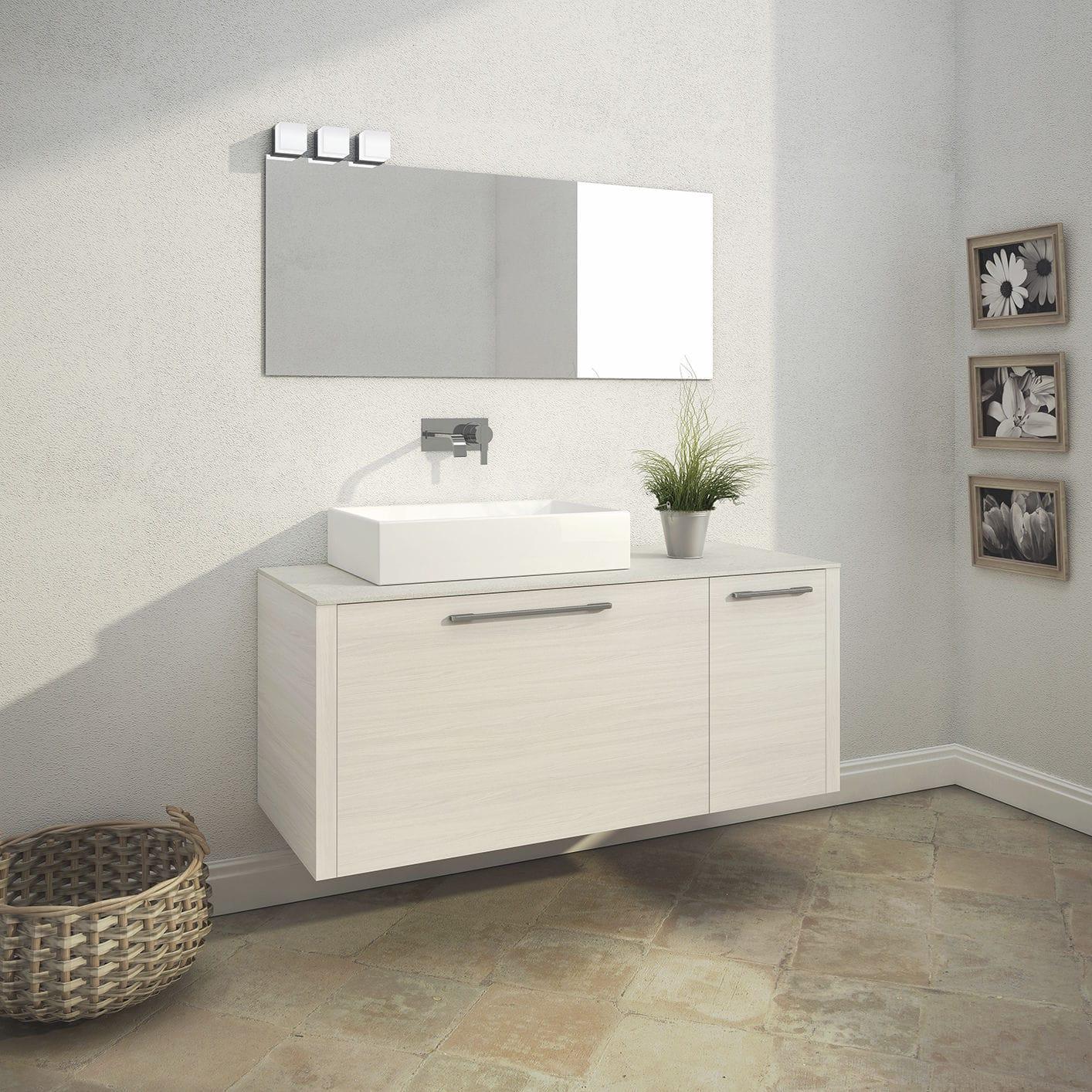 Double washbasin cabinet / wall-mounted / wenge / oak - Velvet ...