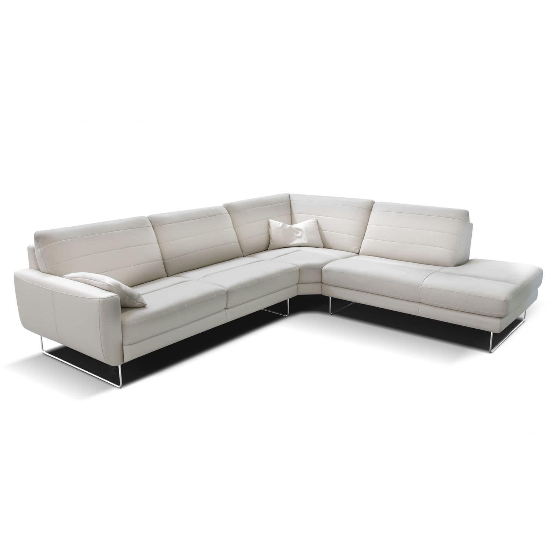 Corner Sofa Contemporary Leather Leandra
