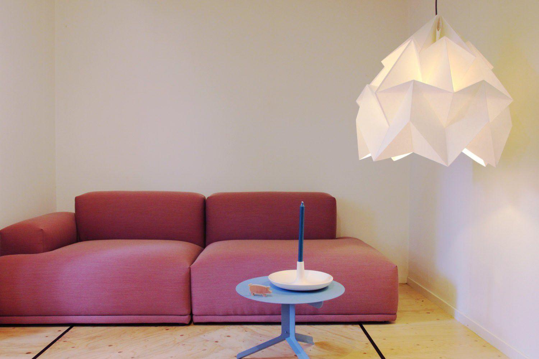 Studio Snowpuppe Lamp : Pendant lamp contemporary paper origami moth xxl studio