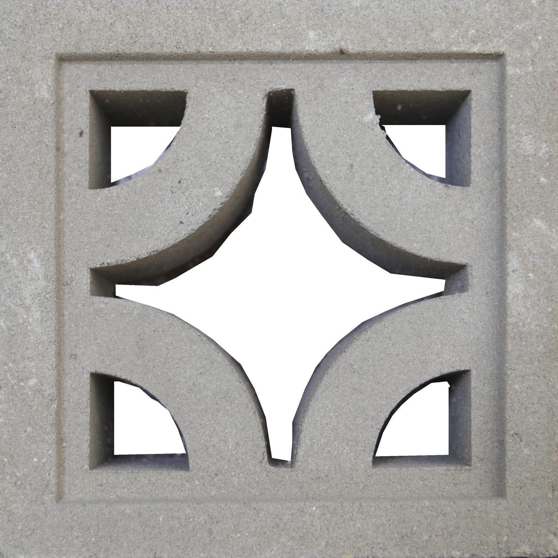 Perforated Concrete Block Decorative For Parion Walls Facades Diamond