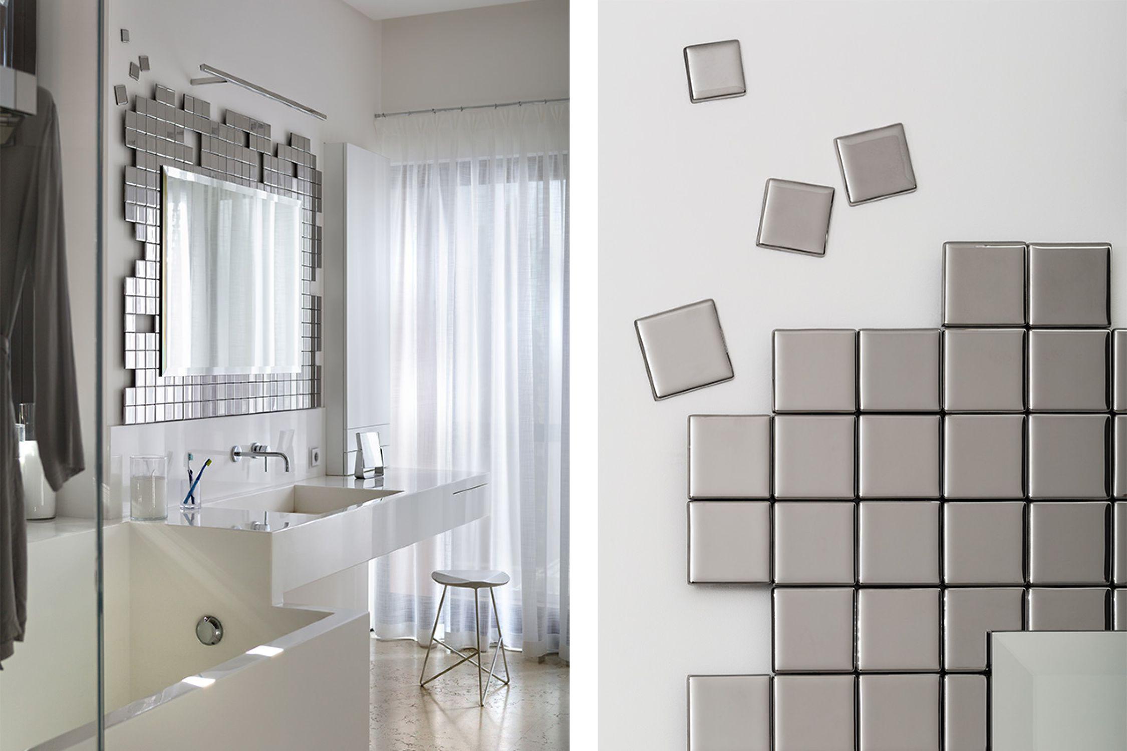 Wall-mounted bathroom mirror / illuminated / hanging / bedroom ...