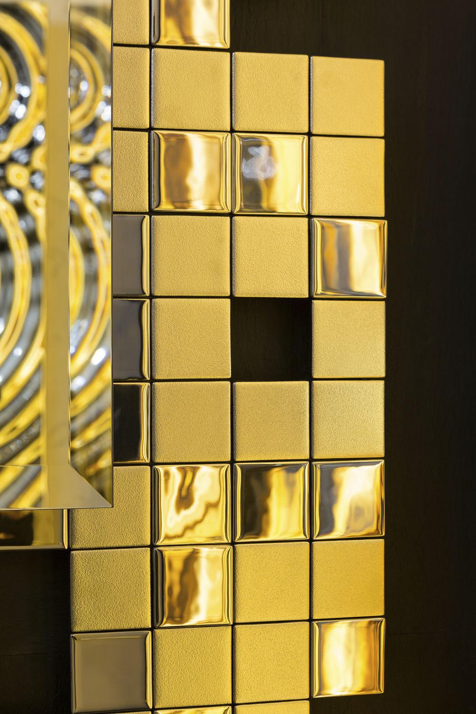 Glass decorative panel / wall-mounted / high-gloss - TETRIS PANEL ...