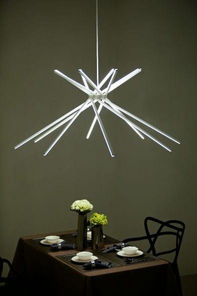 pendant lamp original design aluminum white scoppio oggi luce
