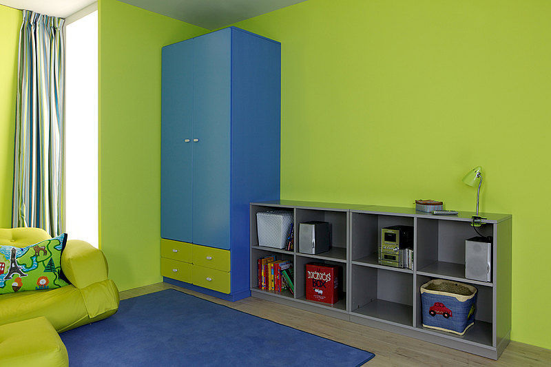 Blue Children S Bedroom Furniture Set Green Uni
