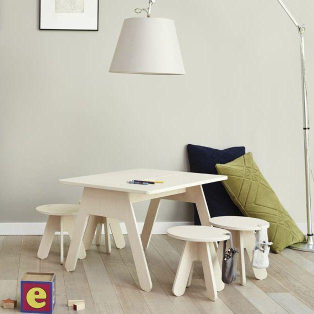Gentil Contemporary Table / Birch / Plywood / Rectangular   PEEKABOO