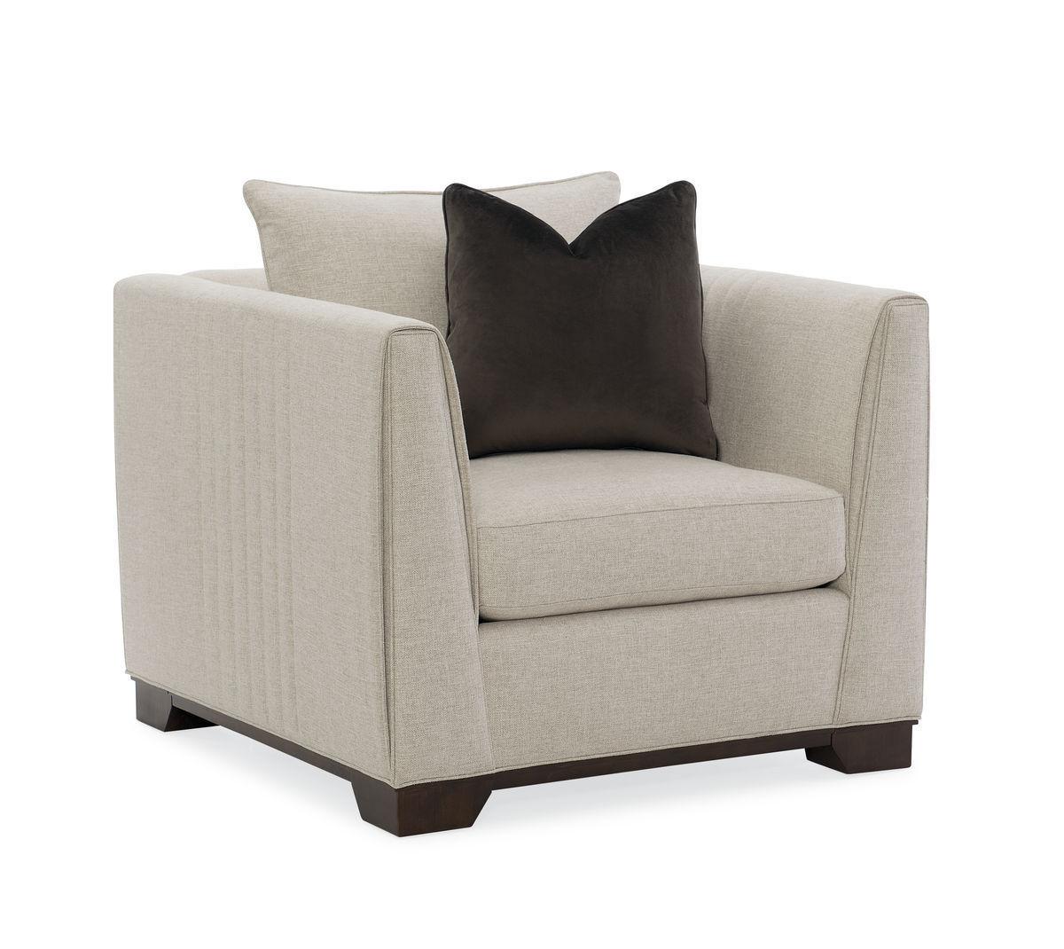 Contemporary armchair fabric modern streamline moderne
