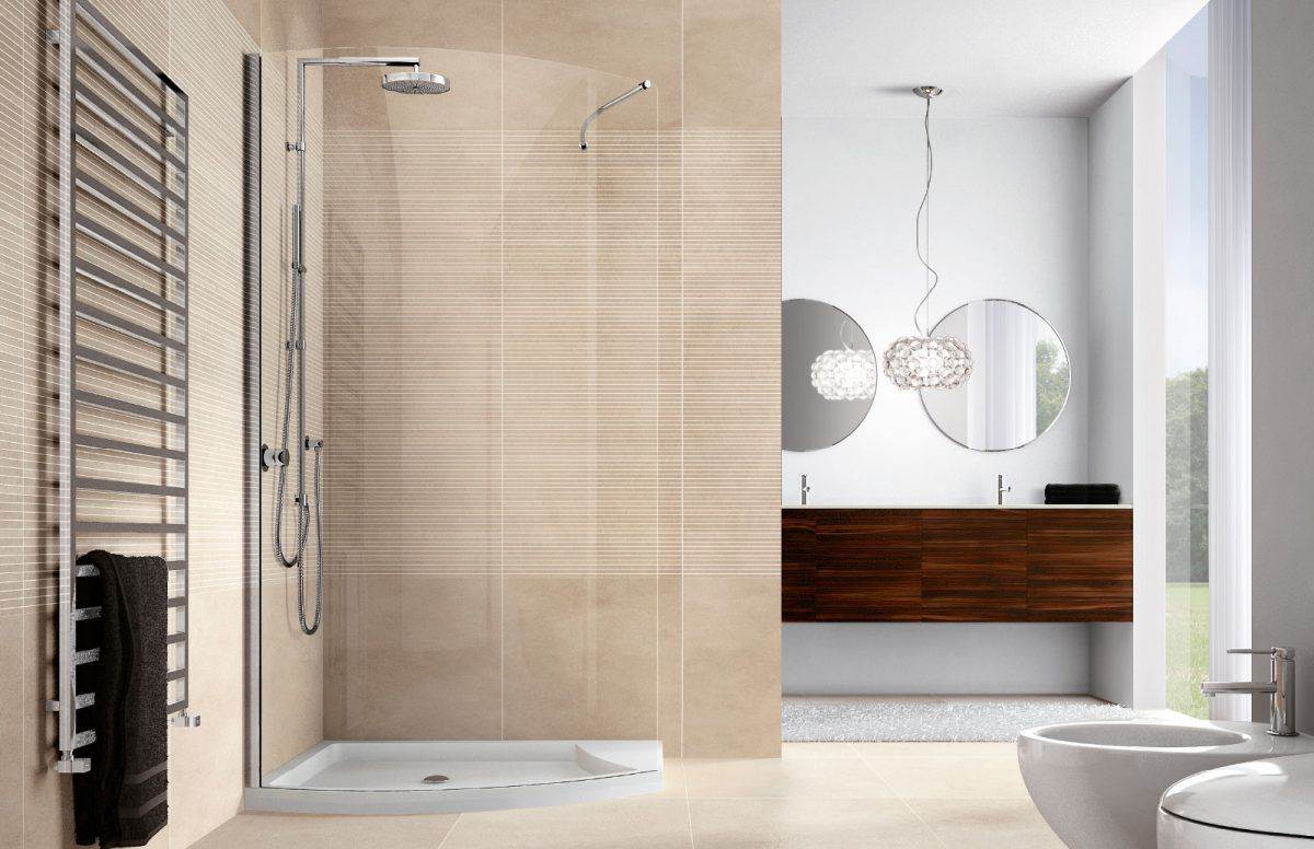 Glass Shower Cubicle Curved With Hinged Door Velas