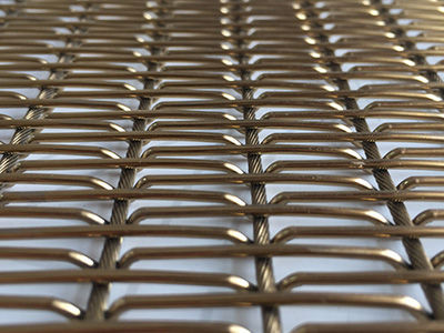 Stainless steel woven wire fabric / elongated mesh / decorative - XY ...