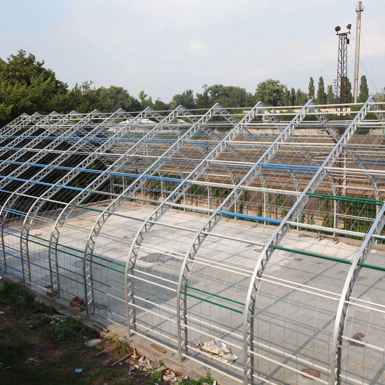 Metal frame tensile structure / for shelters / for industrial ...