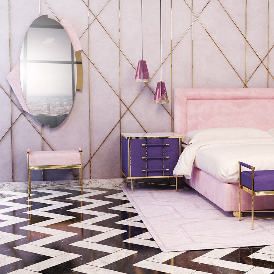 Wall Mounted Mirror / Bedroom / Contemporary / Oval   JAYNE