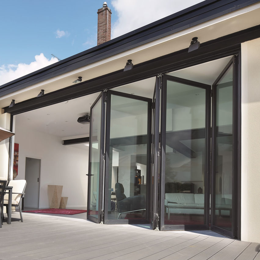 Merveilleux Folding Patio Door / Aluminum / Double Glazed / Thermally Insulated   CF 77