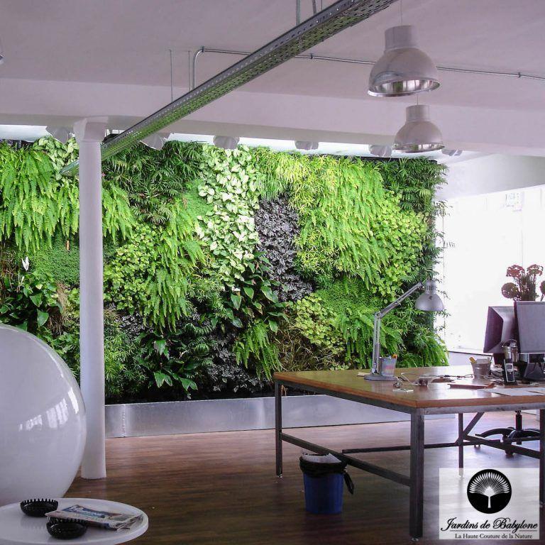 Preserved Green Wall Modular Panel Natural Foliage Utopies